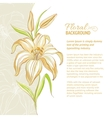 Lily flower background vector image vector image