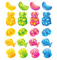 jelly candy colour set vector image