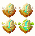 islands with mountains and a waterfall vector image
