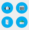 set of simple property icons elements entry vector image