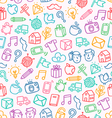 Miscellaneous doodle pattern vector image vector image