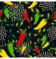 Mexican chili seamless pattern vector image
