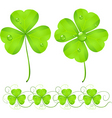 St Patrick's Day clover vector image vector image