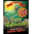 Halloween poster background EPS 10 vector image vector image