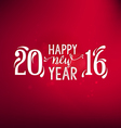 New Year Greeting Card Design Element vector image vector image