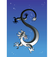 black dragon in the sky vector image vector image