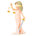 Blind justice vector image