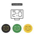 countdown timer scoreboard icon vector image