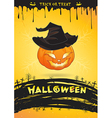 Halloween party poster pumpkin witch monster vector image