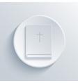 modern light circle icon vector image