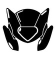 motorcycle helmet design icon simple black style vector image