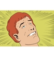 People in retro style Face of a happy man vector image