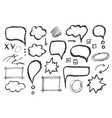 Set of message bubbles vector image