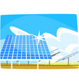 solar panel production of energy from the sun vector image