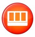 White window frame icon flat style vector image