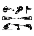Electric Tools icon set vector image vector image