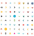 Arrows Colorful Arrow Set Isolated on White vector image vector image
