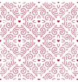 Seamless pattern with hearts in red vector image vector image