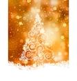 Shinny Christmas Tree EPS 8 vector image