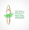 Body care logo template vector image