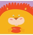 Greeting card with cartoon and funny character vector image