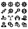 Financial tools and options icon set vector image
