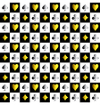 Card Suit Chess Board Gold Silver Background vector image