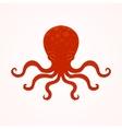 Red big octopus vector image vector image