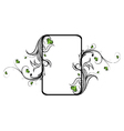 vintage floral frame with hearts vector image vector image