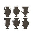 ancient greek vases vector image