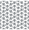 bee seamless black and white pattern vector image