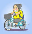 Bicycle Girl vector image