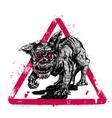 black hell dog vector image