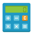calculate flat icon business and calculator vector image