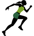 Female runner silhouette vector image