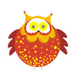 huge round owl with brown plumage with tassels on vector image