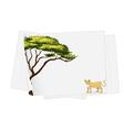 lion paper template vector image