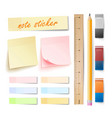 post note sticker isolated set memory vector image