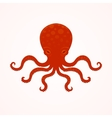 Red big octopus vector image