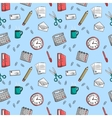 Seamless office stationery pattern background vector image