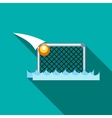 Water polo gates icon flat style vector image