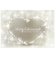 Silver sparkling Christmas heart vector image vector image