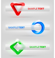 Abstract shapes and banners for message or text vector image