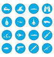 16 weapon icon blue vector image