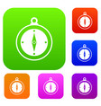 compass set collection vector image vector image