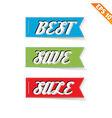 Label stitch sale tag - - EPS10 vector image