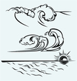 Beautiful ocean wave vector image vector image