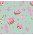 Candy seamless pattern background vector image vector image