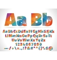 low poly style alphabet letters isolated on white vector image