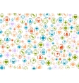 Bright medical icons pattern design vector image